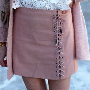 Chicwish Lace Front Skirt
